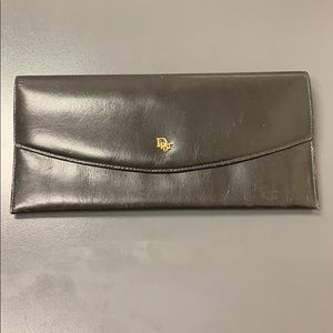 Christian Dior Black leather wallet